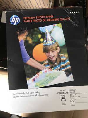 HP Premium Photo Paper, Glossy for Sale in Lynn, MA