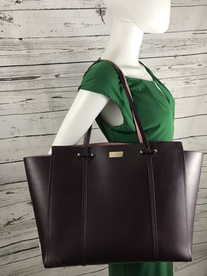 Kate Spade soft leather deep purple large tote for Sale in Smyrna, TN