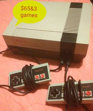 Nintendo system, 2controllers3 games for Sale in Cleveland, MS