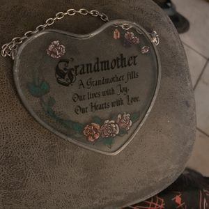 """""""Heart"""" Stainglass Heart W/say Grandmother::A Grandmother Fills Our Lives With Joy And Our Hearts With Love! No Chips Or No Cracks-chain To Hang This for Sale in Phoenix, AZ"""