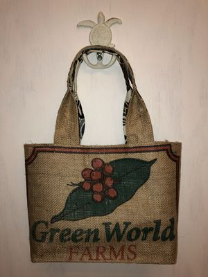 Authentic Green World Coffee Bean Bag Tote for Sale in Folsom, CA