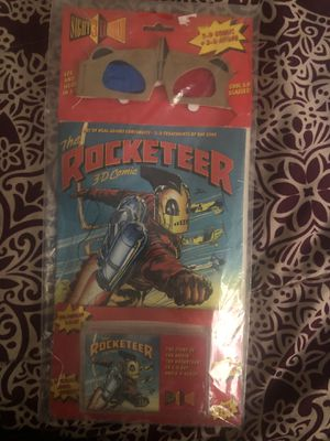 The rocketeer 3D comic book with 3D glasses and cassette for Sale in Fresno, CA