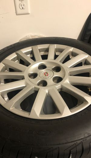 17 inch tires and rims off a cadillac cts 4 set for Sale in Virginia Beach, VA