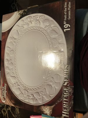 Ceramic platter dish for Sale in Fall River, MA