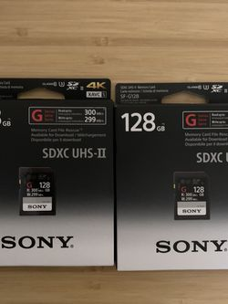 Sony SF-G128 Memory Card for Sale in Edmonds,  WA