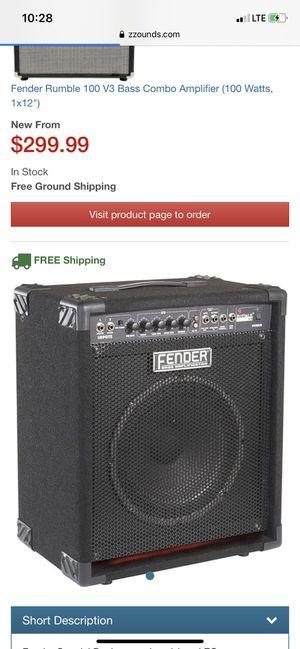 Fender bass amplifier for Sale in Dallas, TX