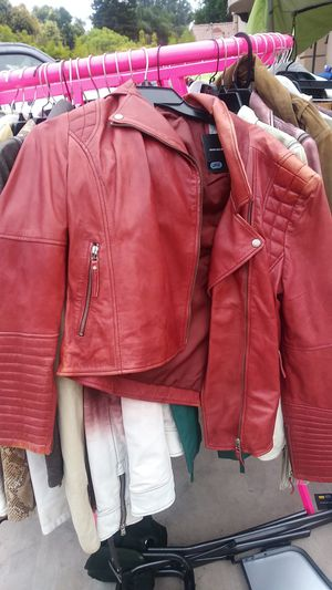 Jacket leather jackets Malibu retail value $450 my price is $150 and you get my one get one free for Sale in Los Angeles, CA