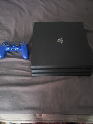PS4 Pro 1 Tb with 1 Controller All Cords 3 month ps plus for Sale in North Chesterfield, VA