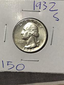 1932 S WASHINGTON QUARTER 90% SILVER for Sale in Rowlett,  TX