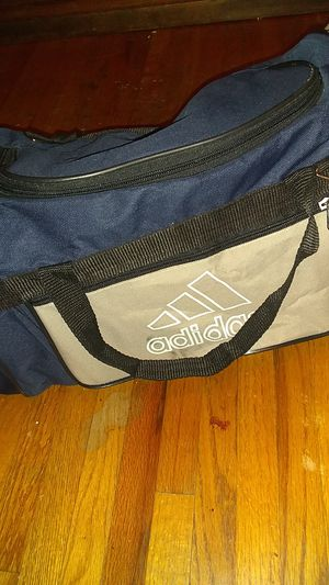 Adidas grey and blue bag for Sale in Clarksville, TN