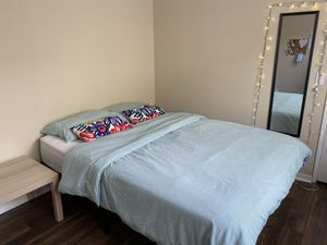 Mattress + Bed frame + Table + Mirror for Sale in San Diego, CA