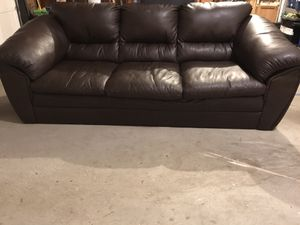 FREE Comfy, solid, leather couch for Sale in Cheshire, CT