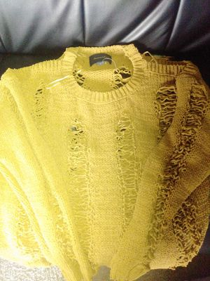 Distressed warm yellow sweater for Sale in Federal Way, WA