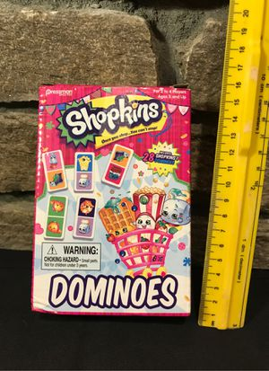 SHOPKINS Dominoes Box-Preowned for Sale in Norwich, CT