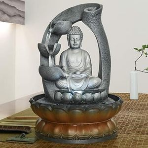 SHIPPING ONLY Indoor Tabletop Buddha Statue Fountain w/LED Lights for Office or Living Room Decor for Sale in Las Vegas, NV