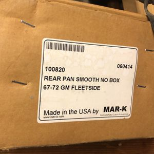67-72 Chevy/gmc Rear Pan Smooth With No Box for Sale in March Air Reserve Base, CA