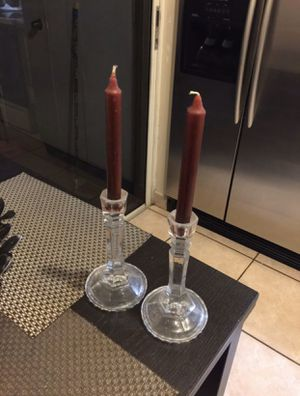 2 crystal candle holder for Sale in Miami, FL