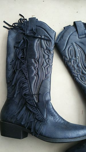 Navy blue boots for Sale in Thomasville, NC
