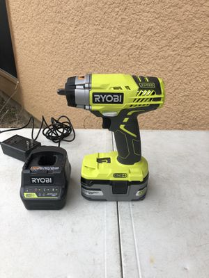Ryobi 18volts 3/8 impact drill 3 speed New with battery 3.0 an charged $135 for Sale in Carrollton, TX