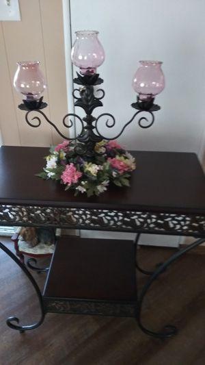 Iron candelabra candle holder for Sale in Hemet, CA