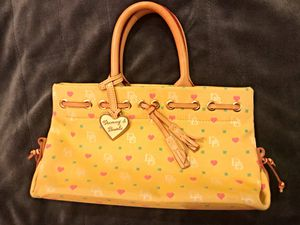 Dooney & Bourke Bags | Dooney and Bourke Heart Tiny Tassel Tote Purse Color: Yellow for Sale in Memphis, TN