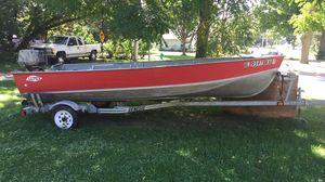 1975 16' Lund Aluminum V Boat for Sale in Batavia, IL