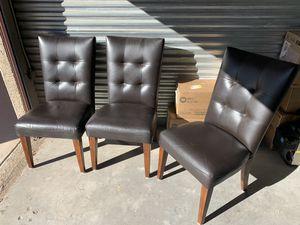 Leather Chairs x3 for Sale in Glendale, AZ