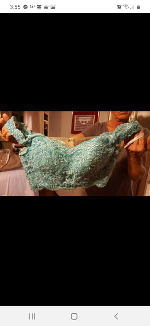 Two piece blue ruffled prom dress for Sale in Scottsville, KY