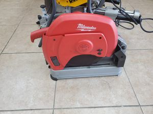"Milwaukee 14"" chop saw only $120!!! Like new for Sale in Fort Worth, TX"