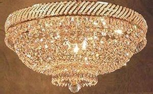 "French Empire Crystal Flush Chandelier Lighting H 16"" W 23"" for Sale in Federal Way, WA"