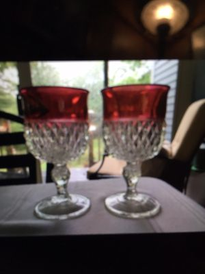 Pair of 1940's goblets for Sale in Prospect, ME