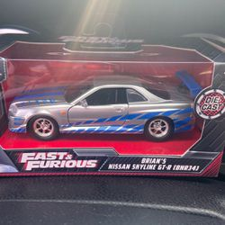 Fast And Furious Brian's Nissan Skyline GT-R (BNR34) 1:32 for Sale in Chandler,  AZ