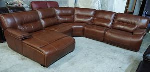 Beckett 5pc Italian leather sectional sofa for Sale in Decatur, GA