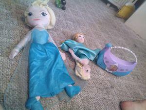 Elsa and Anna /olaf Disney lot 4 toys for Sale in Orlando, FL