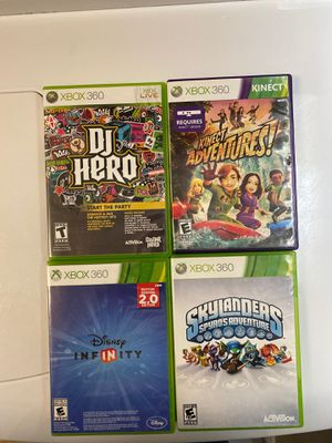 Xbox 360 games $20 for all 4 for Sale in Temecula, CA
