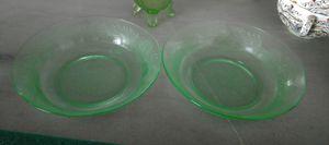 Depression Glass green thistle for Sale in Dunedin, FL
