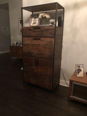 Bar Cabinet - Reclaimed Wood for Sale in Hoboken, NJ