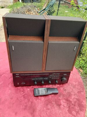 300 watts Yamaha receiver with remote control plus Bose 201 Speakers for Sale in Washington, DC