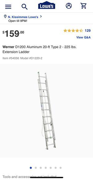 Werner 20ft ladder for Sale in Kissimmee, FL