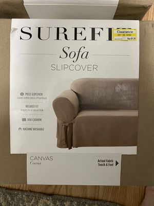 Couch sofa canvas slipcover for Sale in Raleigh, NC