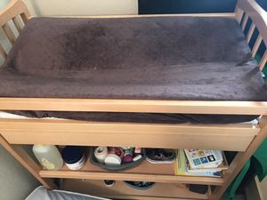 Changing table with mattress and mattress protector for Sale in North Las Vegas, NV