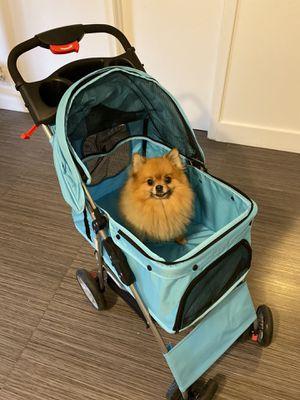 Outdoor Pet Cart Breathable Dog Carrier Bag Pet Stroller 360 Rotating Wheel Pet Carrier Strollers Pet Supplies for Sale in HALNDLE BCH, FL