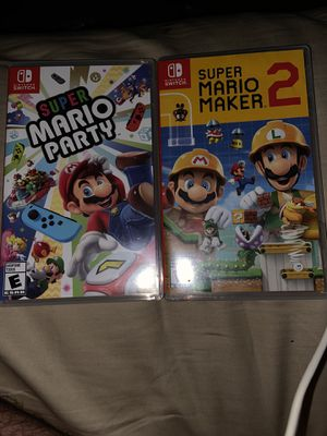 Super Mario Party and Super Mario Maker 2 for Sale in Rochester, MN