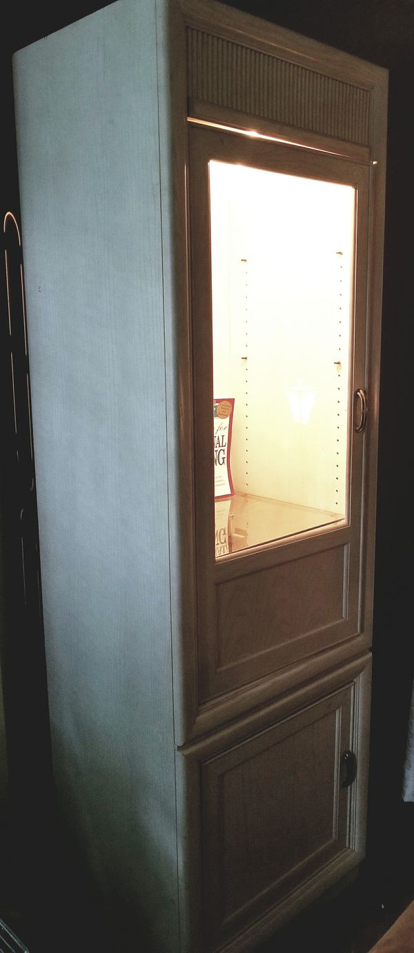 White washed solid wood cabinet