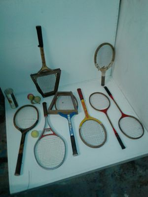 Vintage tennis and badminton rackets. for Sale in Houston, TX