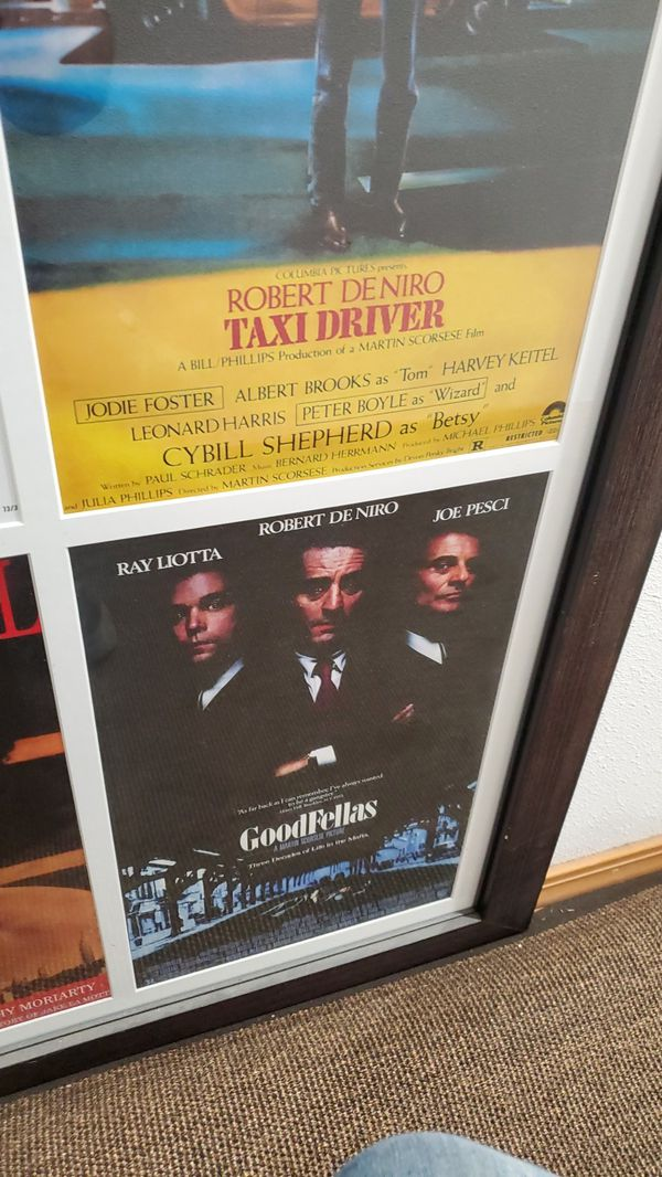 deniro/ Scorsese 4 film poster set, matted and framed, 17x11 movie posters 4 in 1, approx 38x26