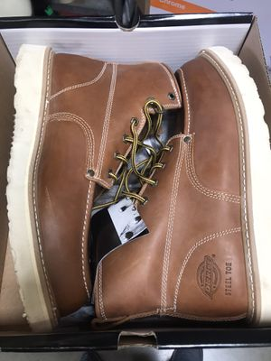Dickies Men's Trader 6 in. Work Boots - Steel Toe - TAN Size 13(M) for Sale in Temple City, CA