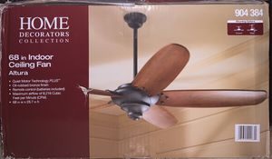 "Home Decorations Collection 68"" indoor Ceiling Fan Altura 904 384 comes with remote! Brand New! for Sale in Phoenix, AZ"