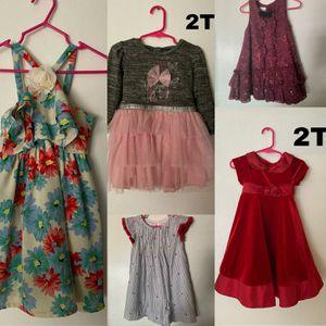 5 vestidos talla 2T todos por $10 for Sale in Phoenix, AZ