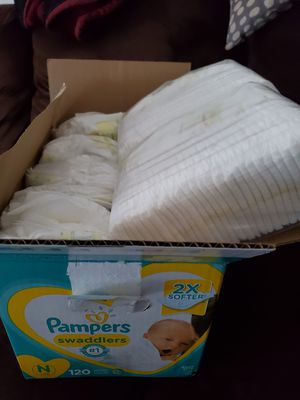 Newborn 119 diapers $20 price firm for Sale in Heathrow, FL